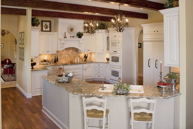 Warm French Country Kitchen with Italian Flair